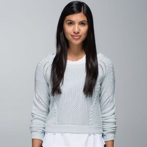 Lululemon Be Present Pullover Sweater Baby Blue